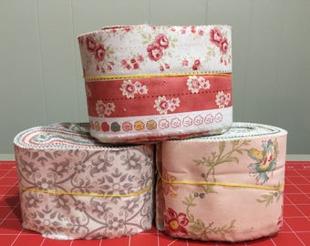 Moda Quilt Fabric Scrap Bags - Rainy Day! - Mama Said Sew - Acreage -  Mixed Bag 2017 - Grow