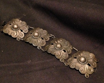 Vintage Sliver Four Panel Bracelet