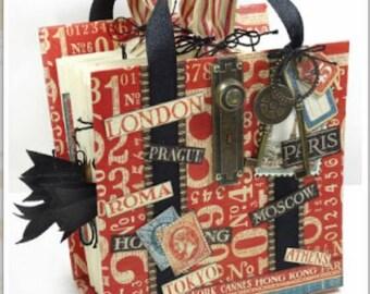 Cityscapes Suitcase Travel Tote 6x6 Album Class Kit