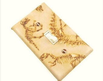 Dinosaur Décor / Dinosaur Bones / Dinosaur Fossil / Cretaceous / Light Switch Cover / Tween Bedroom Décor