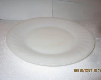 9 in milk glass plate fire king
