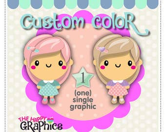 Custom Color, Clipart Color, COMMERCIAL USE, Recolour Clipart, Change Color, Recoloring Clipart, Recoloring Graphic, TheHappyGraphics