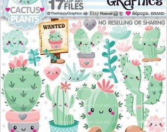 80%OFF - Cactus Clipart, Cactus Graphics, COMMERCIAL USE, Planner Accessories, Plant Cliparts, Succulent Cliparts, Cacti Cliparts