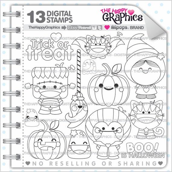 Halloween Stamp COMMERCIAL USE Digi Digital Image