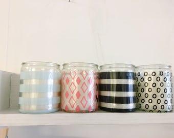 Patterned Jar Candles