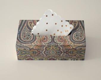 Wooden tissue box / Tissue box cover decoupage / Wood box car napkin / Wooden napkin holder / Vintage tissue box / Home decor