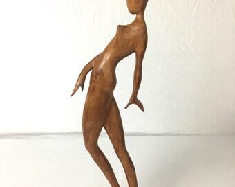 Large Wooden Dancer, Sculpture of a Dancer