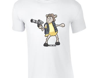 Lamb Solo T-Shirt Mens Ladies Kids Childrens Star Wars Parody Charity Fundraiser Neave's Fund