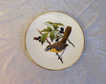 Avon Yellow Breasted Chat North American Soungbird Plate Don Eckelberry design