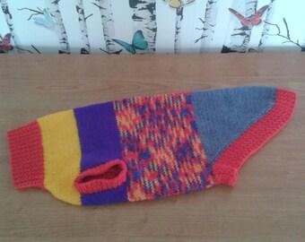 Dog Sweater, Dachshund Sweater, Dog Jumper, Knitted Dog Sweater, Handmade, Hand Knitted