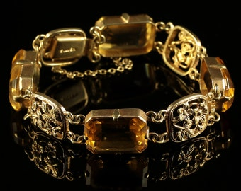 Antique Scottish Bracelet Lovely Citrines Circa 1860