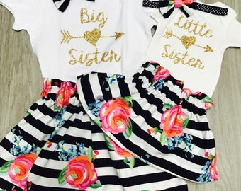 Big Sister Little Sister outfits//Family Pictures//Pregnancy Anouncement//Matching Sister Outfits//Big Sis Little Sis tops