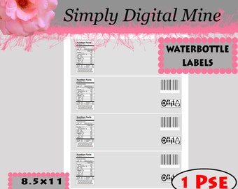 YOU Design!!! Water bottle Template #2 With Clipping Masks