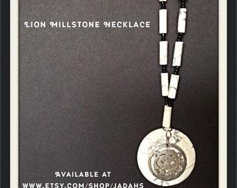Lion Millstone Necklace