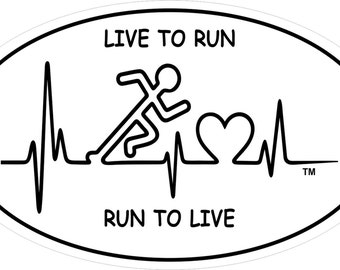 Run To Live Vinyl Sticker
