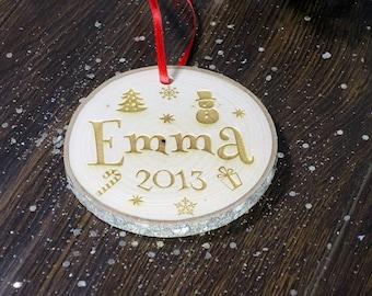 Wood slice ornament, Christmas ornaments, Ornaments, Wood slice, Monogram Ornament, Personalized ornament, Custom ornaments.