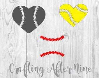Baseball Heart SVG File, Softball Svg, Baseball Stitches, Softball Heart SVG, Commercial and Personal Use, File for Cricut, Silhouette Cameo