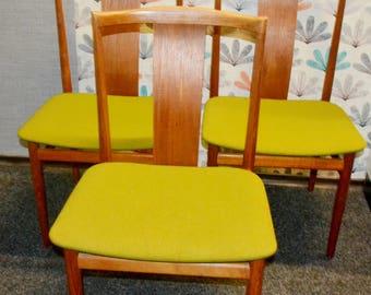 True vintage Danish design chairs 70s Brown / Green