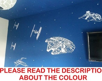 Star Wars SPACECRAFT STARFIGHTERS Wall Art Sticker/Decal/Mural