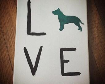 LOVE pet canvas