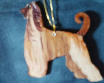 Afghan Hound dog ornament custom