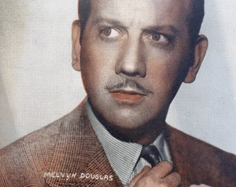 Melvyn Douglas  Vintage Sepia 5x7 Photographic Print