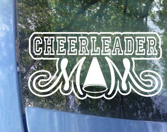 Cheerleader Mom Decal | Sports Mom |  Cheerleader Mom | Cheerleader Mom | Sports Mom Decal | Sports Decal | Bumper Sticker | Cheer Mom