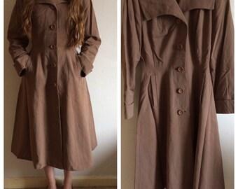 Stunning vintage 1950s brown coat