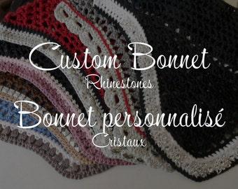 Custom Horse Fly Bonnet - With Rhinestones
