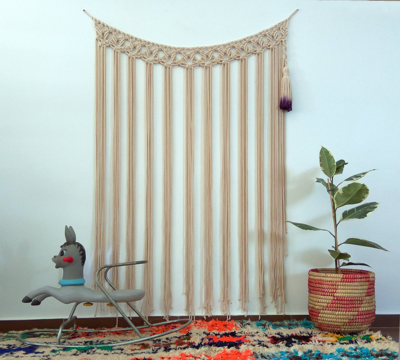 Tassel macrame wall hanging macramé bohemian weaving wall art