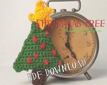 Crochet PATTERN handmade christmas tree decoration PATTERN tutorial pdf and video tutorial, season decoration, christmas, beginner, pdf