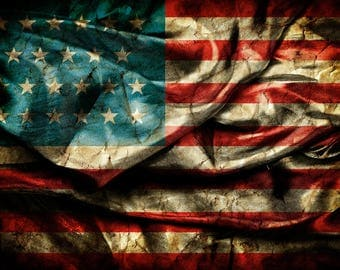Patriotic Backdrop - American flag, national day, 4th of July - Printed Fabric Photography Background W1257
