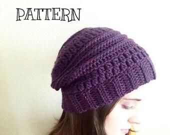 Crochet hat pattern // Cluster stripe beanie // tutorial