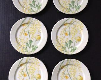 Gien France Set of 6 Hors d'oeuvre side Starter Appetizer Plates
