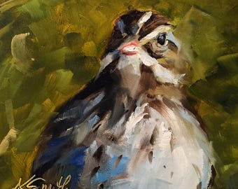 savannah sparrow // bird // sparrow // bird art // bird painting // fine art // original art // original painting // wildlife //  art