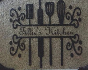 Custom cutting board,Personalized cutting board,Monogrammed Gifts,Wedding Gifts,Custom Glass Cutting Board,kitchen decor,mom's kitchen,