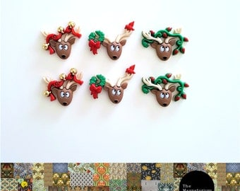 Christmas Reindeer Fridge Magnet Set