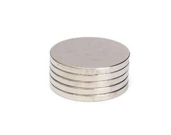 5pcs 20mm x 2mm Disc Rare Earth Neodymium Super strong Magnets N35 USA Seller