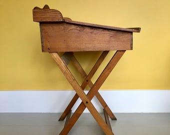 French Vintage Wooden Children's Desk