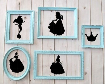 Disney Princess silhouette vinyl decal