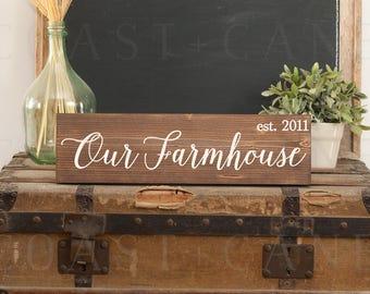 Our farmhouse sign Farmhouse sign Farmhouse established Farmhouse welcome Rustic farmhouse sign Farmhouse decor Family farmhouse