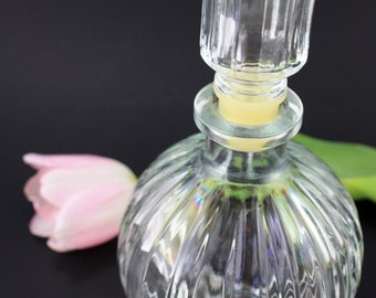 French Clear Glass Perfume Decanter