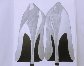 Silver High Heels Painting
