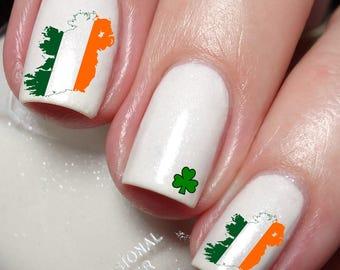 Irish Ireland Map Nail Art Sticker Water Transfer Decal 119