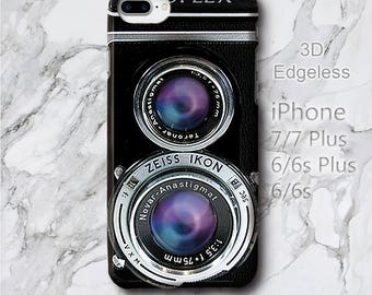 for Samsung 8 Plus Vintage Twin Lens Ikoflex Case, iPhone 7+ iPod Touch 6 retro camera  Cover, photographer gift Protective 3D Edgeless