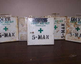 Vintage Government Metal First Aid Box Only