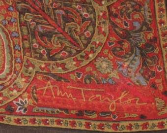 Vintage / ANN TAYLOR / Square Slk Scarf / Made in Japan