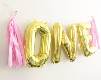 ONE balloons // 1st Birthday Girl // First Birthday Girl // 1st Birthday Boy // First Birthday Boy // Pink and Gold Party Decor