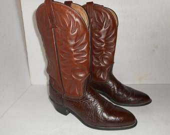 ON SALE Vintage Brown Leather Palomino Made By Mason Cowboy Boots Mens 10.5 D Western