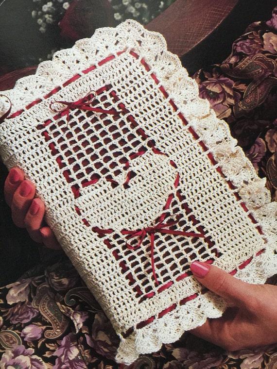 Pdf  download  Sweetheart  bible  cover pattern , crochet  bible cover  pattern , vintage  bible cover  crochet  pattern